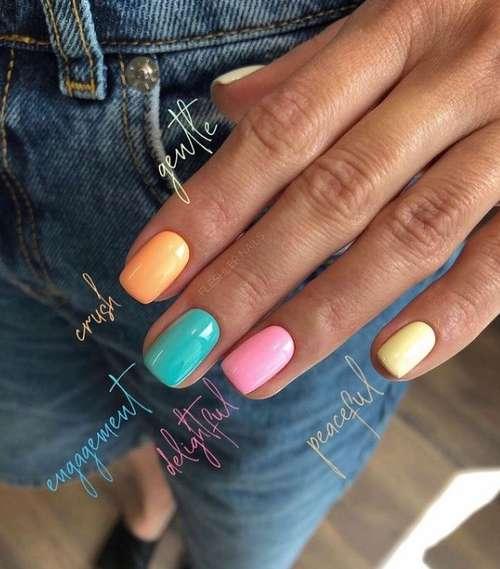 Turquoise marine manicure
