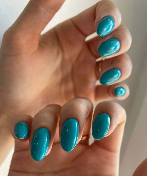 Turquoise long nails