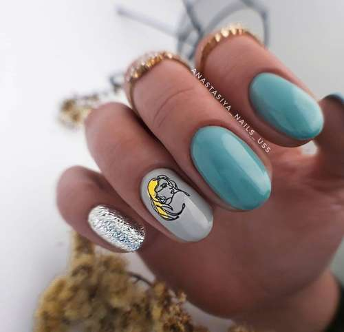 Turquoise manicure