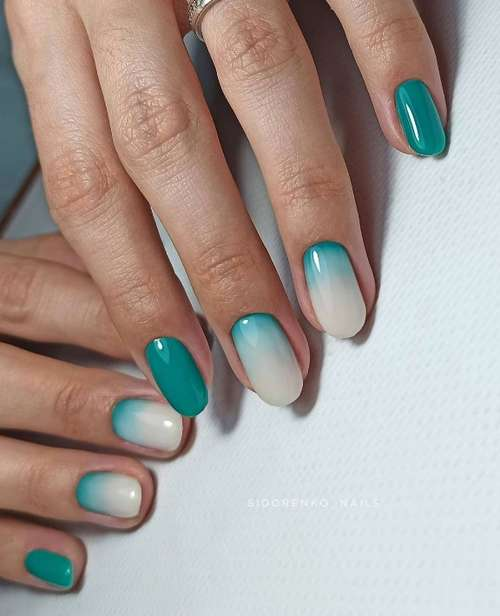 Turquoise manicure 2021-2022: a photo of new ideas, an overview of trends