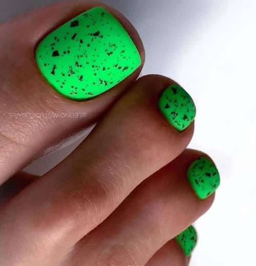 Design with butterfly pedicure