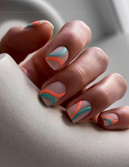 Beige nails design