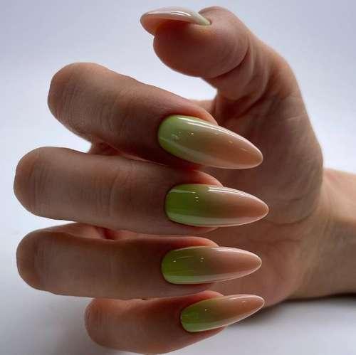 Beige green gradient