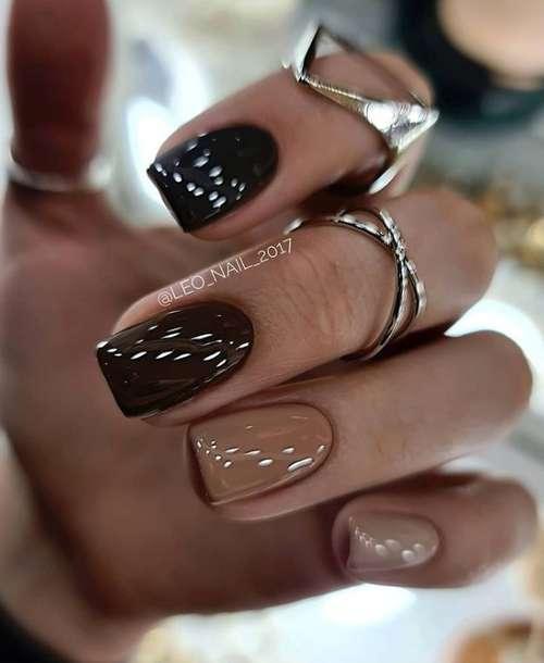 Beige nails manicure