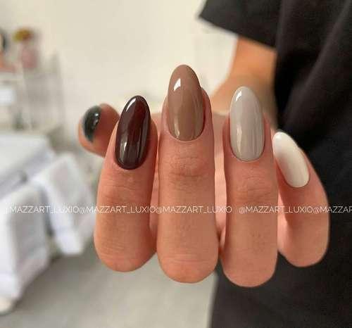 Beautiful manicure color beige