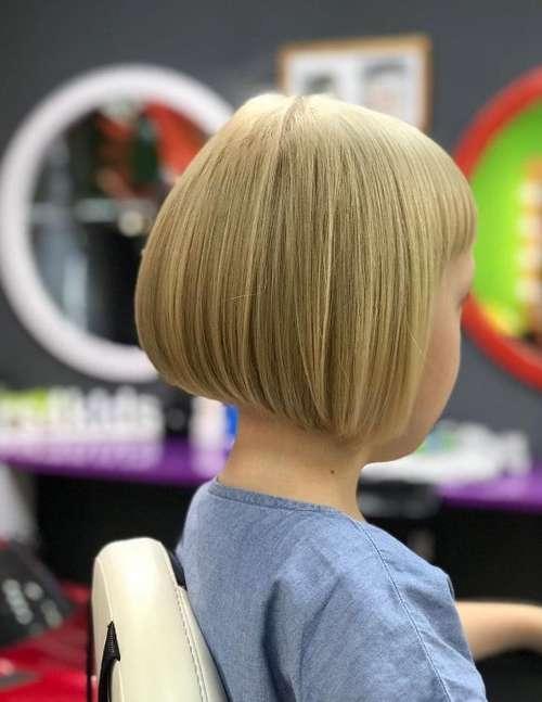 Haircut bob with bangs