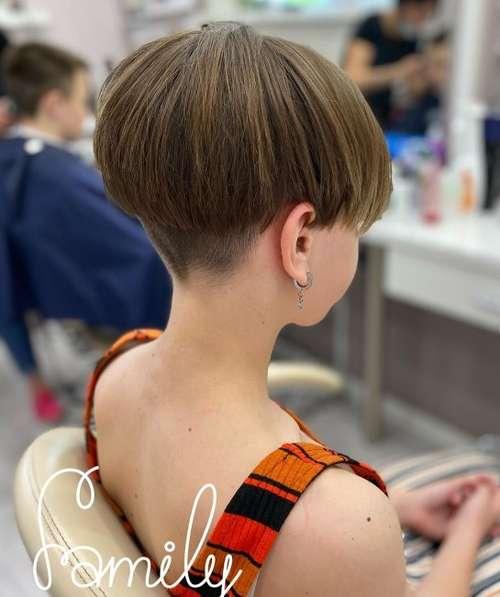Pixie haircut girl 11 years old