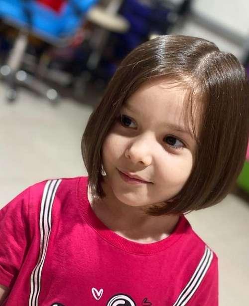 Haircut for a little girl