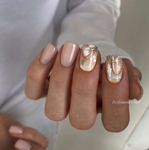 Beige manicure photo