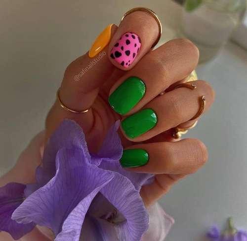 Bright nails design photo