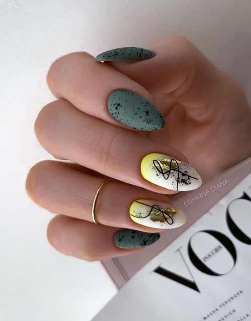 Manicure quail print
