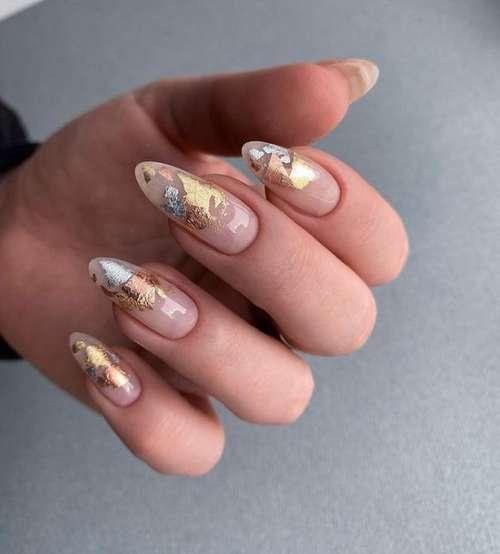 Beading on transparent nails