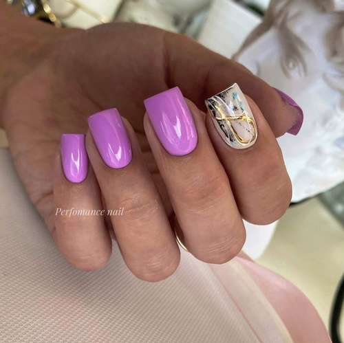 One nail with gold