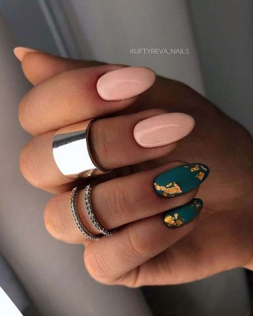 Nail polish in manicure