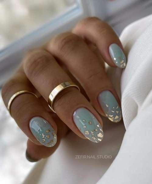 Manicure with foil potal